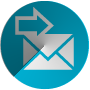 email marketing icon blue